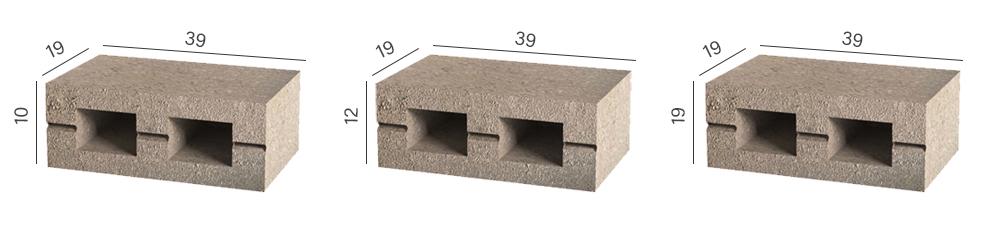 Розміри стінового блоку