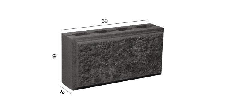 розмір колотого блоку